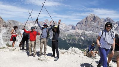 TREKKING PACK  IN THE DOLOMITES