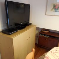 l'ampio televisore del salotto