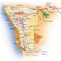 Mappa della Namibia