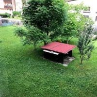 Giardino con panca