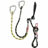Lanyard, harness and carabiners