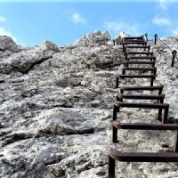 Various types of via ferrata or iron paths or ways