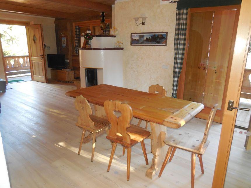 Soggiorno e stufa-lounge+wood stove